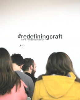 Redefining Craft. Moda Lab. IED Madrid.